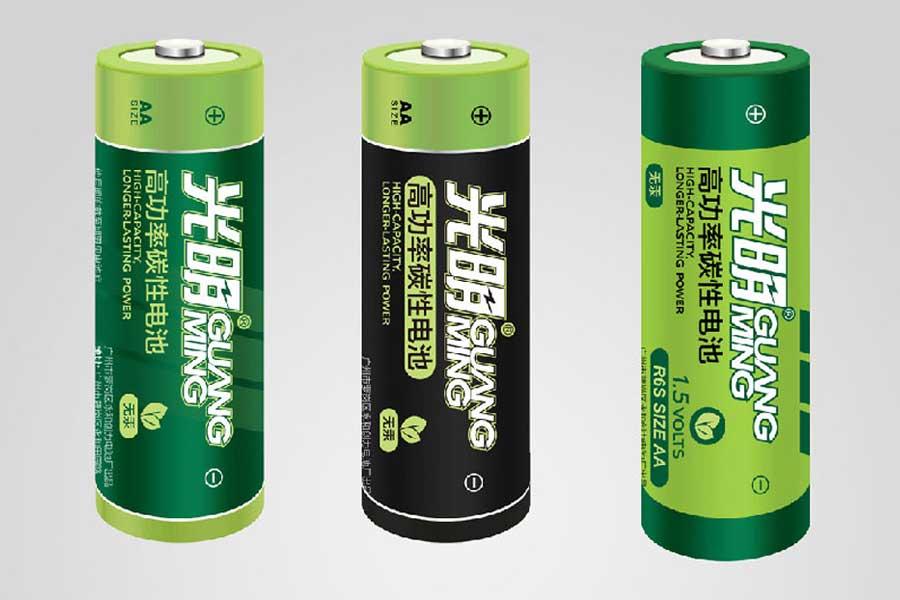 光明电池包装设计